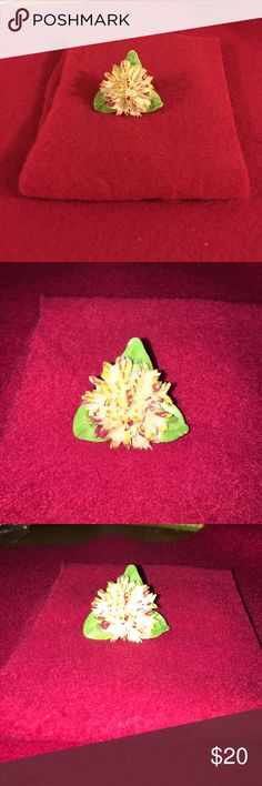 ADDERLEY FLORAL BROOCH Lovely vintage bone china brooch by ADDERLEY made in England. Very detailed carnation with leaves. Excellent vintage condition. Vintage Jewelry Brooches