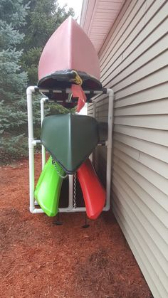 How to Make an Outdoor Kayak Storage Rack