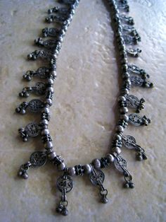 Yemen | Vintage high grade silver filigree Filigree Bedouin necklace | 250$