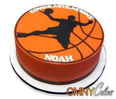 Single Tie Basketball Cake This cake was made for the Bar Mitzvah of Noah. This is a special celebration for a Jewish boy when he turns 13 and the religious ceremony is usually followed by a celebration where a special cake is required! Noah is a basketball fan and we were really excited to make this cake for his special day. http://cmnycakes.com/gallery2/v/Cakes+For+All+Occasions/Single+Tie+Basketball+Cake.html