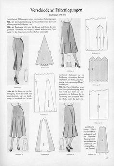 Vintage 1954 Advance Skirts Sewing Pattern