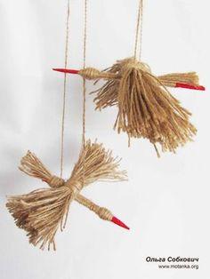 Журавлі-веселики Jute Crafts, Diy And Crafts, Arts And Crafts, Autumn Crafts, Nature Crafts, Craft Activities For Kids, Crafts For Kids, Corn Husk Crafts, Stitching On Paper