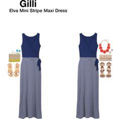 casual, sleeveless, colors, stripe patterned bottom. Gilli Elva Mini Stripe Maxi Dress