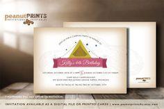 Camping Birthday Party Invitation by PeanutPRINTS4u