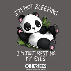 Resting PandaHigh-quality metal print from amazing Cute collection will bring unique style to your space and will show off your personality. Inspirational Animal Quotes, Cute Animal Quotes, Cute Quotes, Cute Panda Wallpaper, Cute Disney Wallpaper, Panda Wallpapers, Cute Cartoon Wallpapers, Cute Animal Drawings, Cute Drawings