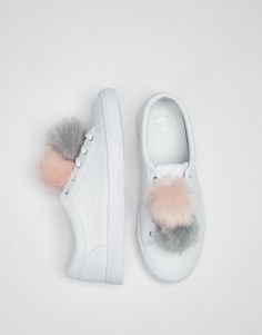 Pompons sneakers - What's new - Shoes - Woman - PULL&BEAR Taiwan