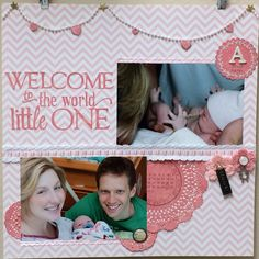 Welcome to the World Little One - Echo Park - Bundle of Joy Collection - Girl - 12 x 12 Collection Kit
