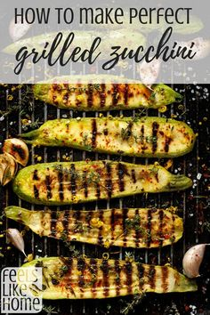 grilling recipes How to make perfect grilled zucchini and squash - This recipe is simple, quick, and easy. The BBQ grill makes this recipe and tips delicious! Use seasonings of your choice with garlic for the best grilled zucchini. Grilled Zucchini Squash, Grilled Zucchini Recipes, Grilled Vegetables, Bbq Zucchini, How To Grill Zucchini, Best Vegetables To Grill, Best Food To Grill, Zucchini, Barbecue