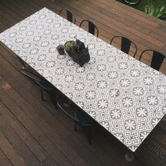 Unique outdoor table