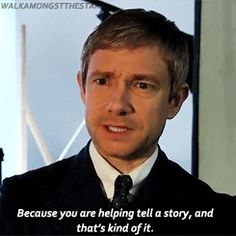 Martin Freeman on staying humble as an actor -- I love this. It's so simple.