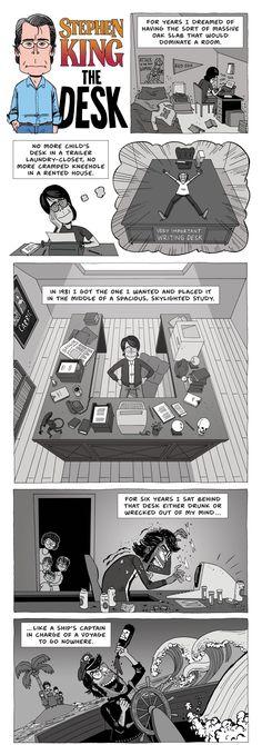 STEPHEN KING: The desk (Zen Pencils) - Democratic Underground