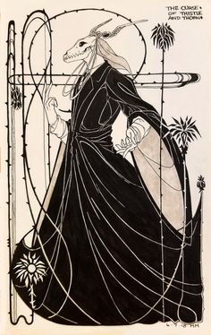 """:: """"The Curse of Thistle and Thorn"""" : The Magus : The Ancient Magus' Bride :: Dark Fantasy Art, Kritzelei Tattoo, Tattoos, Elias Ainsworth, Train Drawing, The Ancient Magus Bride, Arte Obscura, Dark Art Drawings, Mythical Creatures Art"""