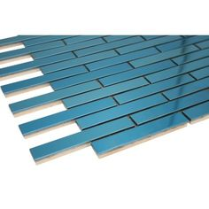 "5/8"" x 3 7/8"" Blue stainless steel bricks mosaic tile"