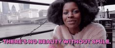 New trending GIF tagged smile smiling afro black girl magic...