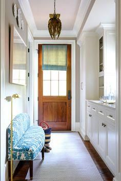 A blue hue makes a w     A blue hue makes a welcoming entryway:  www.stylemepretty...