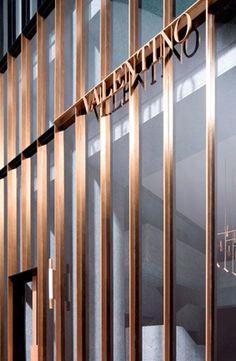 David Chipperfield_Valentino store, New York Design Exterior, Facade Design, Wayfinding Signage, Signage Design, Shop Front Design, Store Design, Valentino Store, David Chipperfield Architects, Retail Facade