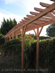West Los Angeles Wooden Grape Arbor - Perfect For Homes in Pomona & Bradbury, CA
