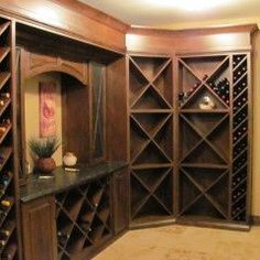 i don't drink wine, but I want this Wine room
