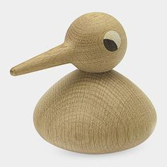 Wooden bird in 2 pieces by Kristian Vedel- 1959.