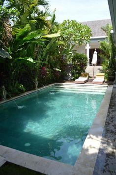 Small Backyard Pools, Backyard Pool Designs, Small Pools, Swimming Pools Backyard, Swimming Pool Designs, Pool Landscaping, Courtyard Pool, Small Pool Design, Swiming Pool