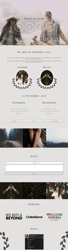 Wedding website ideas and wedding website inspiration. Let us do it for you for a fraction of the price. Website Ideas, Wedding Announcements, Wedding Website, Merry And Bright, Crate And Barrel, Reception, Weddings, Shop, Inspiration