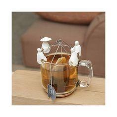 Set de 4 porte-sachets de thé Pêcheurs