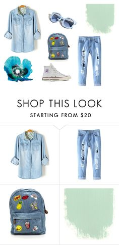 """""""Летний лук♥"""" by tanushka1004 ❤ liked on Polyvore featuring Pinko and Converse"""