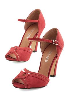 Step to the Rhythm Heel in Red