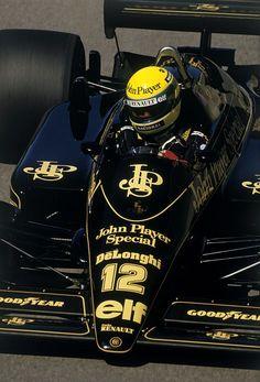 Ayrton Senna Lotus - Renault 1986 Man what a driver he was, brings back memories.