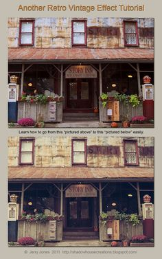 Retro-Vintage-look-effect-tutorial. Great blog with texture, font, brush, tutorial info.