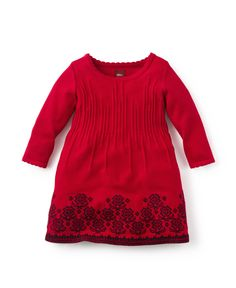 Candelaria Baby Sweater Dress - We named this sweet little sweater dress after the Candelaria del Monte, a beautiful estancia we visited in the Pampas region of Argentina.