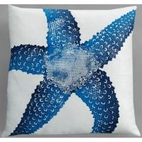 Dermond Peterson Starfish Indigo Pillow