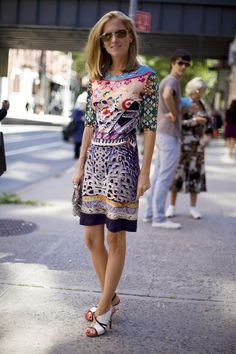 Marina Larroude in Mary Katrantzou | Street Fashion | Street Peeper | Global Street Fashion and Street Style