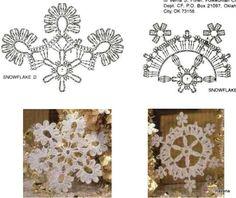 Crochet Snowflake Pattern, Crochet Stars, Crochet Snowflakes, Thread Crochet, Lace Knitting, Crochet Motif, Diy Crochet, Crochet Flowers, Crochet Stitches