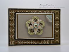 Gothdove Designs - Alison Barclay Stampin' Up! ® Australia : Triple Treat Flower & Spice Cake DSP
