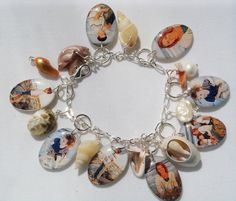 beachy charm bracelet... Put pictures of family and friends who have passed and wear on your wedding day, that way they will be with you on your special day... That's my idea if I ever get married...
