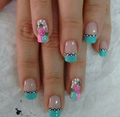 Uñas Nail Art Designs, Nails, Beauty, Art Ideas, French, Country, Colors, Makeup, Work Nails