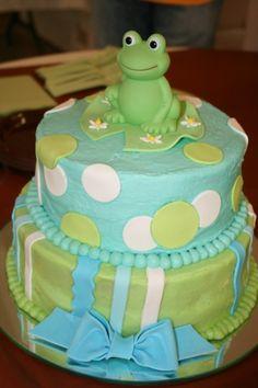 Frog Baby Shower Cake  on Cake Central