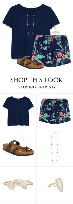 """Summa please comma"" by amberfmillard-1 ❤ liked on Polyvore featuring MANGO, Birkenstock and Kendra Scott"