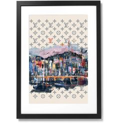 """Framed City Collection - No.04 SEOUL Print, 16"""" X 24"""" The Republic, Black Wood, Seoul, Outline, Photo Wall, Museum, City, Frame, Prints"""