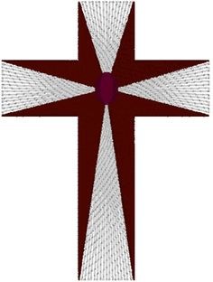 Piping Stitch Latin Cross Embroidery Design