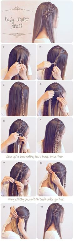 Easy Braided Hairstyles for Summer #hair #hairstyles #frisuren #beautyhairstyles