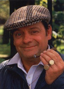 David Jason as Derek 'Del Boy' Trotter. Only Fools and Horses British Sitcoms, British Comedy, British Actors, Comedy Actors, Actors & Actresses, Detective, David Jason, Game Of Thrones Tattoo, Only Fools And Horses