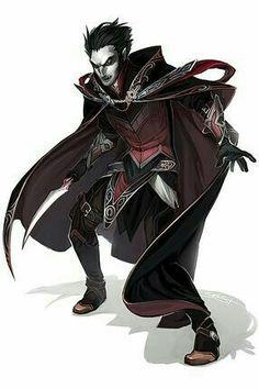 Vampire Sorcerer - Pathfinder PFRPG DND D&D d20 fantasy