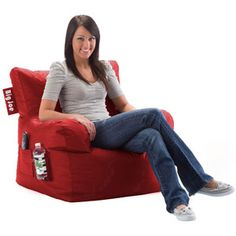 Cheap Bean Bag Chair from Walmart. Good for the living room. $29.88 at Walmart.com