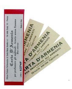 Santa Maria Novella - Carta d'Armenia (Armenian Burning Paper) at Aedes.com.