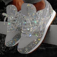 Purchase Women Muffin Rhinestone New Crystal Platform Sneakers from Wondershe on OpenSky. Share and compare all Sneakers in . Buy Sneakers, Sneakers Fashion, Fashion Shoes, Sneakers Women, Fashion Outfits, Style Fashion, Shoes Women, Mom Fashion, White Fashion