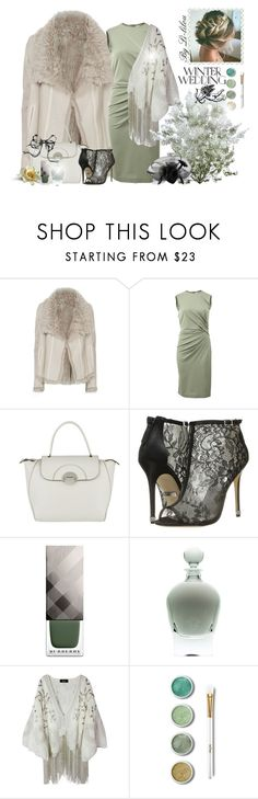"""""""Winter Wedding Love"""" by li-lilou ❤ liked on Polyvore featuring Yves Salomon, Givenchy, Bogner, Badgley Mischka, Burberry and Terre Mère"""