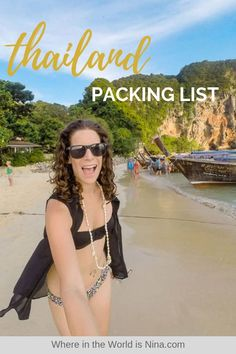 This Thailand packing list has what you need to get you through your trip around the country including things to know about what to wear to be respectful. Plus tips on what to wear in Thailand and not wear. Pin this to your Thailand travel board! Thailand Adventure, Thailand Travel, Asia Travel, Thailand Outfit, Vacation Outfits, Travel Outfits, One Piece Suit, Beachwear For Women, What To Pack