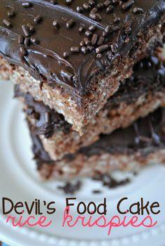 Devil's Food Cake Batter Rice Krispie Treats